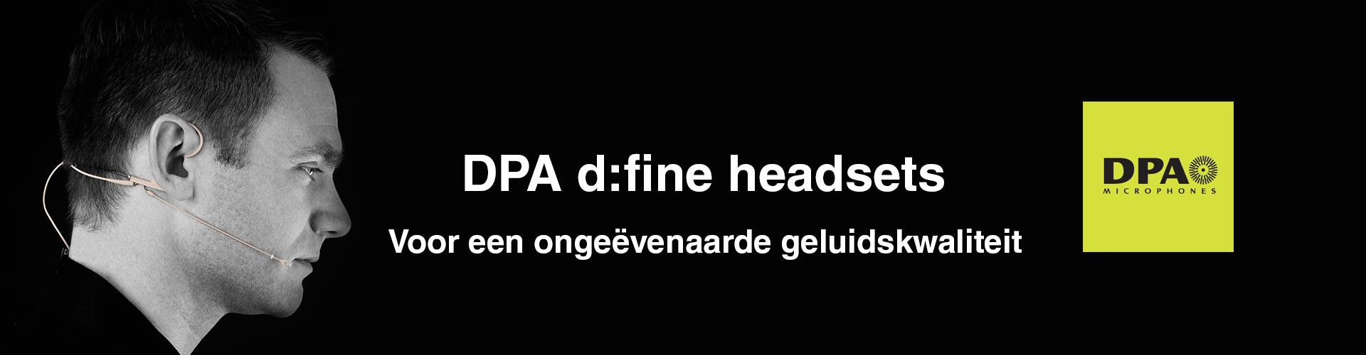 DPA d:fine headsets huren